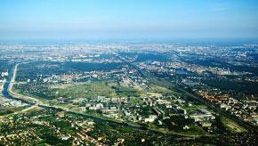 Berlin Luftaufnahme Spree