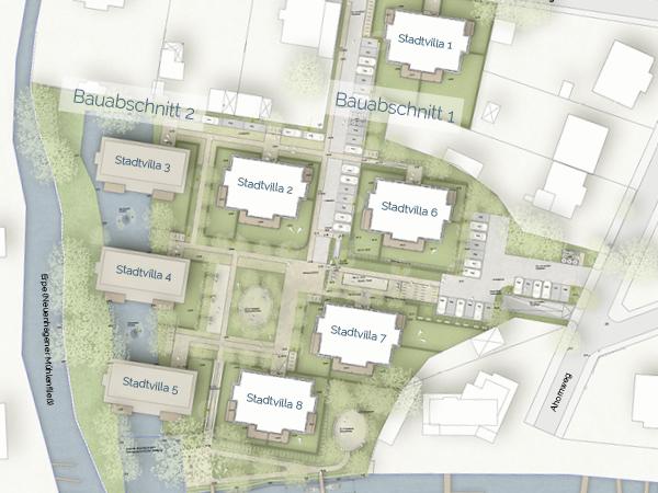 Lageplan Villenpark Hirschgartenufer Berlin Köpenick Bauabschnitte