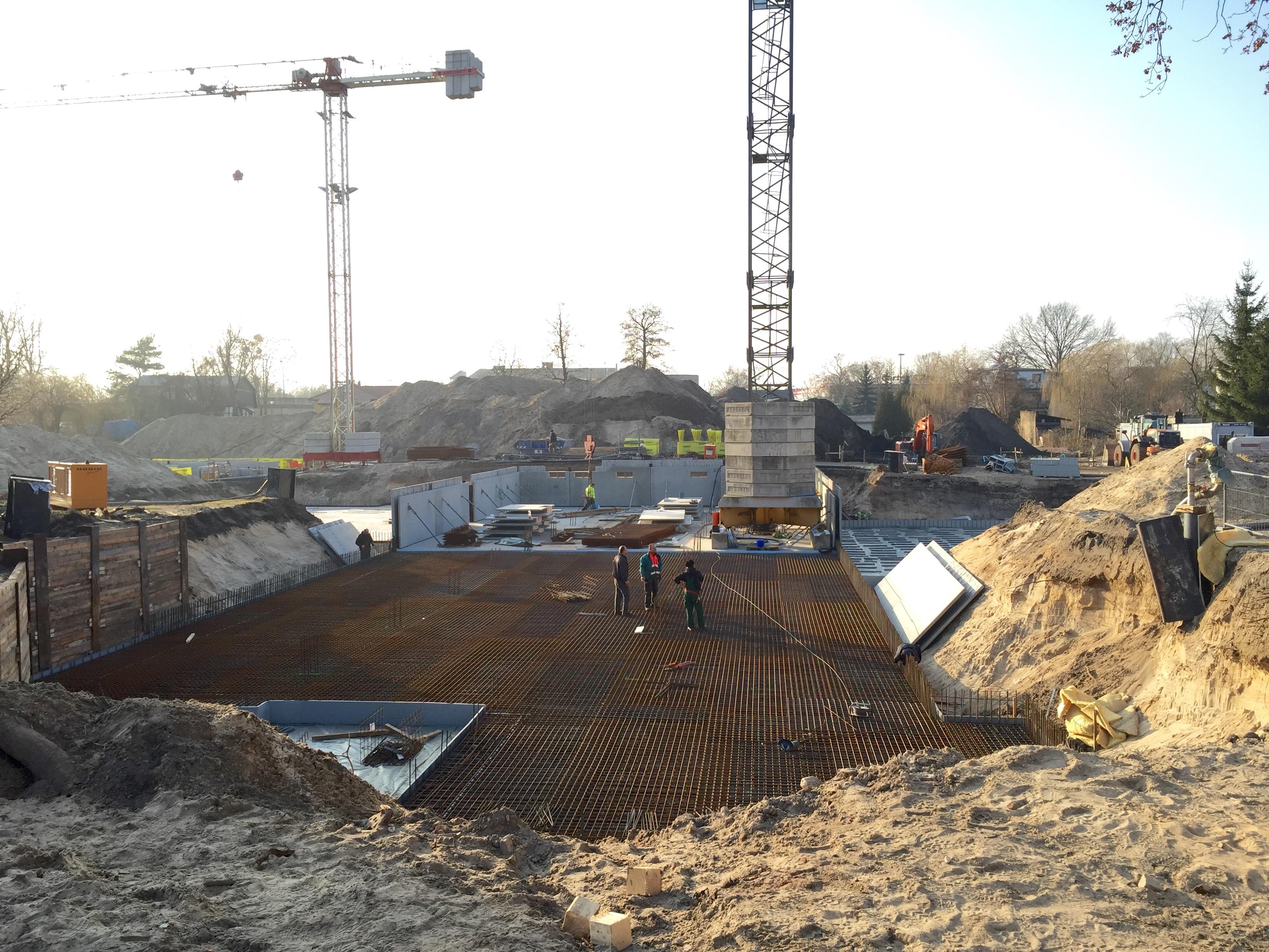 Hirschgartzen Bau Tiefgarage